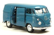 VW Bus (1963) Bulli T1 Kastenwagen blau Modellauto 1:37 von WELLY Neuware