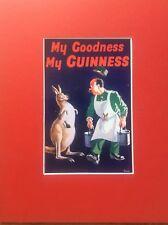 GUINNESS Advertising Advert Cave Vintage Retro Bar Pub Mounted Repro Kangaroo