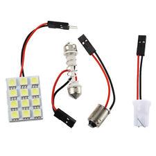 12 SMD 5050 white LED panel lamp T10 socket +BA9S socket + festoon adapter C0B1