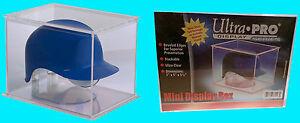 Ultra Pro MINI FOOTBALL / BASEBALL HELMET DISPLAY BOX Case Holder Tall Stackable