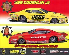 """2017 Erica Enders + Jeg Coughlin, Jr. """"1st issued"""" Chevy Camaro PS NHRA postcard"""