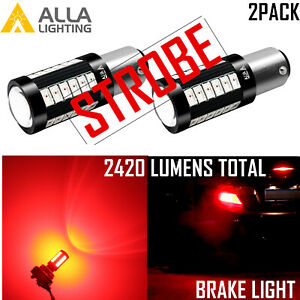 Alla LED Legal more noticeable with strobe feature 1129 Brake Light Bulb,Flash