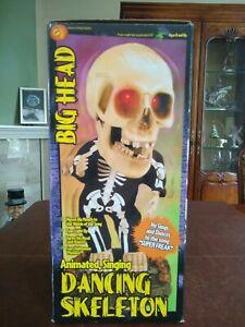 "Gemmy 2001 Halloween Big Head Animated Singing ""Rick James"" Dancing Skeleton NIB"