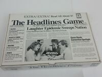 The Headlines Game 1989 Vintage Bicycle Games Opened Box - Never Played