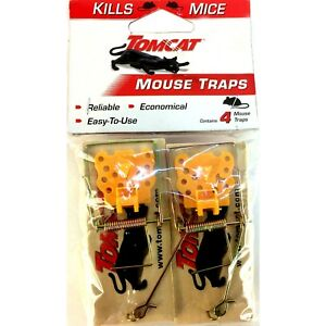 Tomcat 1814, 4-Pack Wooden Mouse Traps, 888603037339