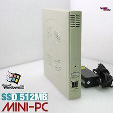 micro PC Ordinateur pour DOS WINDOWS 98 DVI VGA 512MB SSD RS-232 Pentium ancien