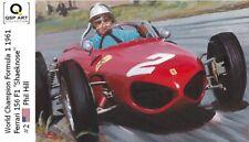 Coffee Mug 1961 Ferrari 156 F1 #2 Phil Hill (USA) by Toon Nagtegaal