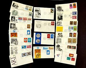 Canada UN Hong Kong Lot FDC Sheet Sport Art Kid Space HKG NY Value Collection