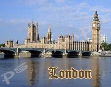 England London PARLIAMENT BIG BEN - Travel Souvenir Flexible Fridge Magnet