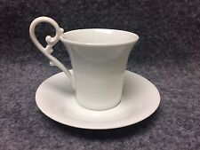 Alka Kunst Bavaria Western Germany Demitasse Tea Cup & Saucer White