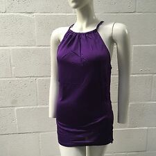 TED BAKER LADIES TOP 10 PURPLE HIGH NECK KNOT RACER BACK NEW RRP £60