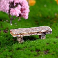 1Pc Wooden Benches Chair Miniature Ornaments Bonsai Decor Dollhouse Accessories