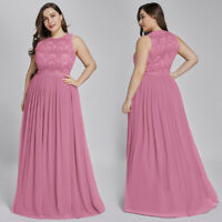 Ever-Pretty US Plus Evening Ball Gowns A-Line Lace Orchid Bridesmaid Dress 07391