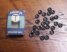 Lot of 25 Vtg 1950s American Leatheroid Upholstery Nails Tacks No. 210 w/ Box