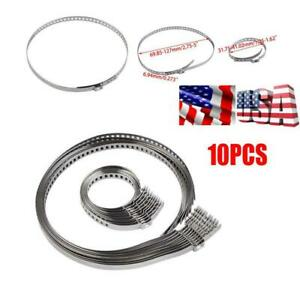 10PCS Car Axle  Drive Shaft CV Joint Boot Crimp Clamps Large +Small Adjustable