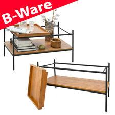 B-Ware Vintage Couchtisch mit Holz Tablett 90x44 Wohnzimmertisch Metall