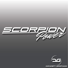 Scorpion Power Abarth Fiat 500 595 Italian Car Vinyl Decal Bumper Stickers