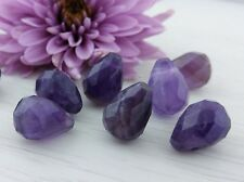 Amethyst Beads 1pc - Faceted Briolette Gemstone Bead  13~14x10~11mm DIY Earrings