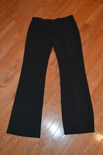 Womens ALVIN VALLEY Black Wide Band Dress Pants Size 6