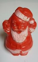 Vintage Plastic Christmas Decoration Santa Claus Cake Cupcake Topper Blow Mold