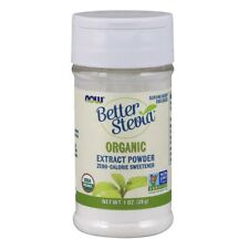 NOW Foods BetterStevia Extract Powder, Organic 1 oz FREE SHIPPING. MADE IN USA