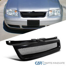 For VW 99-04 Jetta Bora Mk4 Mesh Black ABS Front Upper Hood Bumper Grille Grill