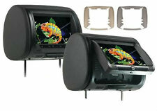 "Concept Pair CLD-903 9"" Headrest Monitors w/ Built in DVD HD Input New CLD903 x2"