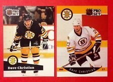 '90/91 Boston Bruins x2 Dave Christian NHL Hockey Pro Set #6 & #11 Cards LOW #'s