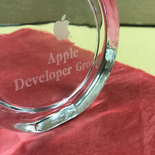 "IN ORIGINAL BOX *SUPER RARE* Glass Paperweight ""Apple Computer Developer Group"""