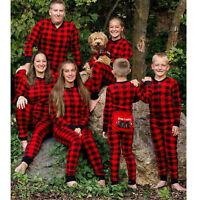 Family Matching Christmas Pajamas Jumpsuit Homewear Sleepwear Nightwear Warm