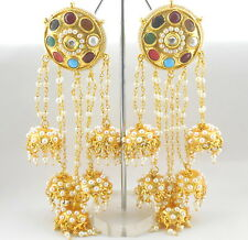 Ethnic Women 22k Gold Plated Indian Bollywood  Bridal Fashion Jhumka Earrings 25