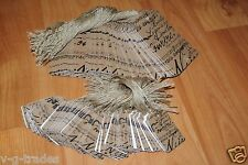 Lot 200 100 Large 100 Small Scalloped Paris Print Paper Price Tags With String