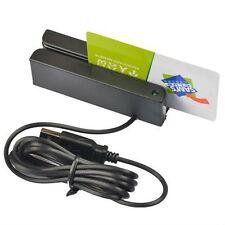 USB Magnetic Credit Card Reader Mini Mag Stripe Swiper 3-Track HiCo Scanner