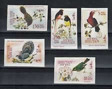 TIMBRE STAMP  5 BOUTHAN Y&T#38-42 PA N.D OISEAU BIRD  NEUF**/MNH-MINT 1968 ~C73
