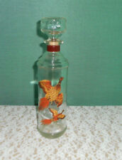 VINTAGE PHEASANTS IN FLIGHT WHISKEY DACANTER BOTTLE WITH STOPPER