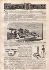 1875 Scientific American April 17 - San Francisco Cable Cars begin; Grayhounds