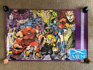"Vintage 1992 X-Men Villains Gallery Rare Marvel Poster Jim Lee 34"" x 22"""