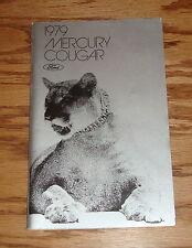 Original 1979 Mercury Cougar Owners Operators Manual 79