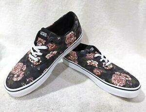 Vans Women's Doheny Flowers & Checks Black/Multi Skate Shoes-Assorted Sizes NWB