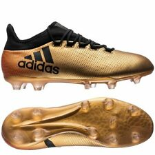 best sneakers 1b8f3 bdfe4 ADIDAS X 17.2 FG CALCIO Cunei Stivali Gold Metallic Black Solar UOMO UK 8  EU 42