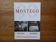 ROVER MONTEGO 1990 Fleet Operators brochure