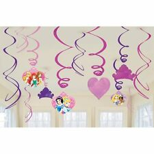 Disney Princess Birthday 12 pieces Dangling Swirls Decoration Party Supplies