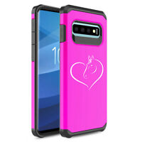 For Samsung Galaxy Shockproof Protective Hard Case Cover Heart Horse