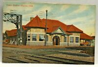Vintage Postcard Union Station Marion Ohio c.1907-1915 Train Tracks Railroad
