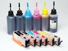 Refillable Ink Cartridges KIT PGI-650 CLI-651 for Canon MG6660 MG7560 XL Grey
