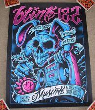 Blink 182 concert gig poster print Costa Mesa 2015 3-22-15 brandon heart