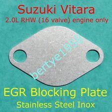 EGR Valve Blanking Plate SUZUKI Vitara 2.0L RHW 16 Valve engine only block