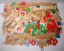 VINTAGE Classic Wood & Plastic Nuts and Bolts Building Toy 6 Pounds