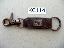 #KC114 Enmon Fly Fisherman Outdoor Man Key Chain Leather with Belt Clip