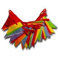 Rainbow Bunting Bright Multicoloured 6 m or 12 m Banner Decoration Cotton Fabric